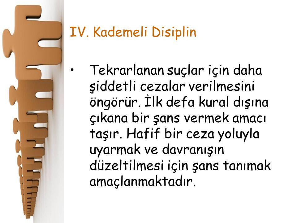 IV. Kademeli Disiplin