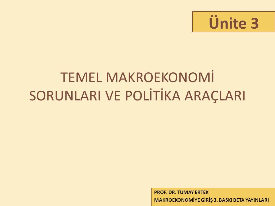 TEMEL MAKROEKONOMİ SORUNLARI VE POLİTİKA ARAÇLARI
