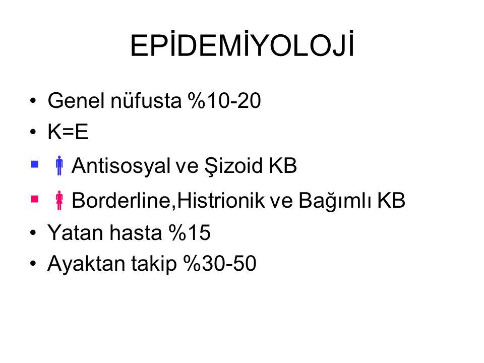 EPİDEMİYOLOJİ Antisosyal ve Şizoid KB