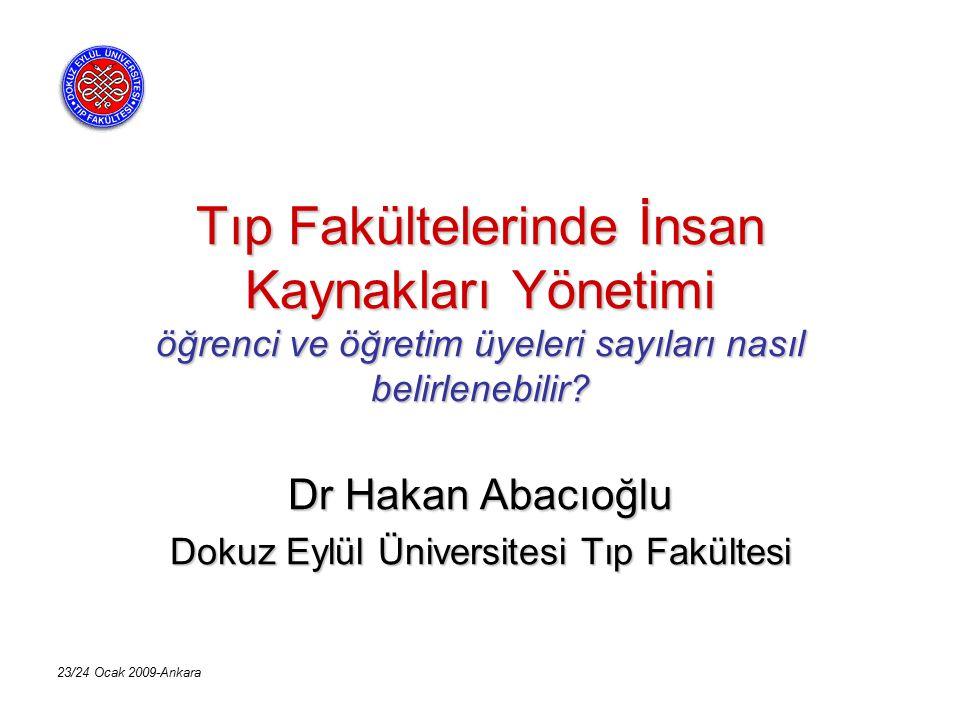 Dr Hakan Abacıoğlu Dokuz Eylül Üniversitesi Tıp Fakültesi