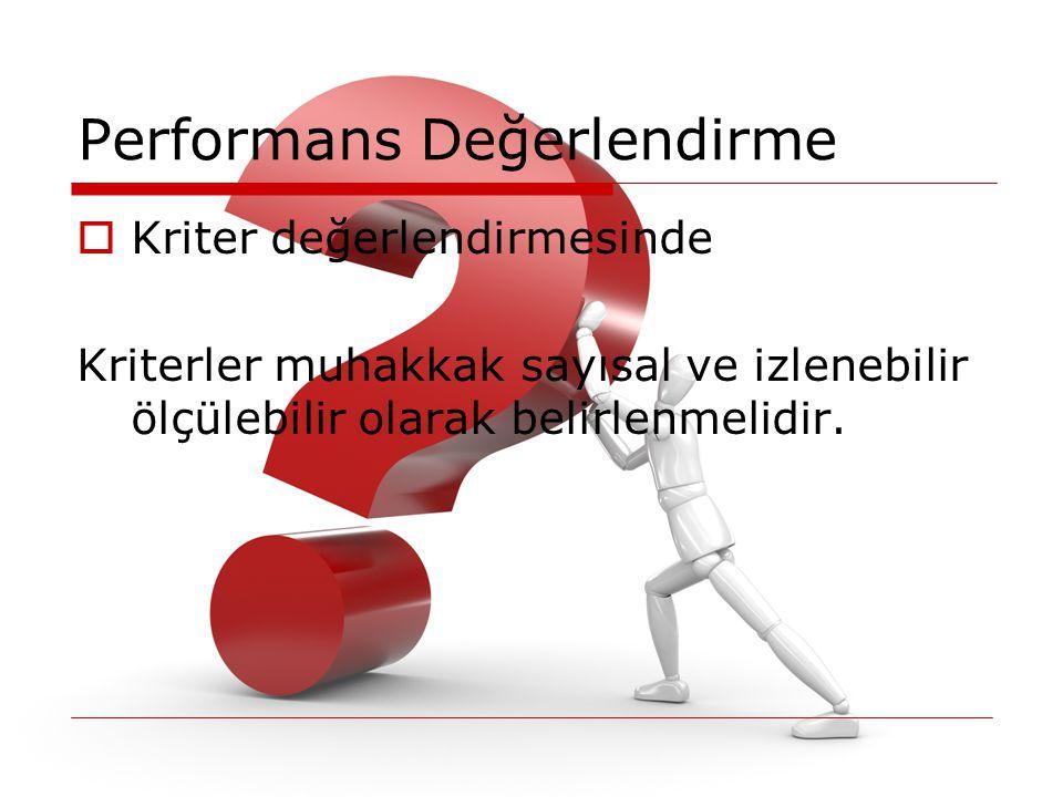 Performans Değerlendirme