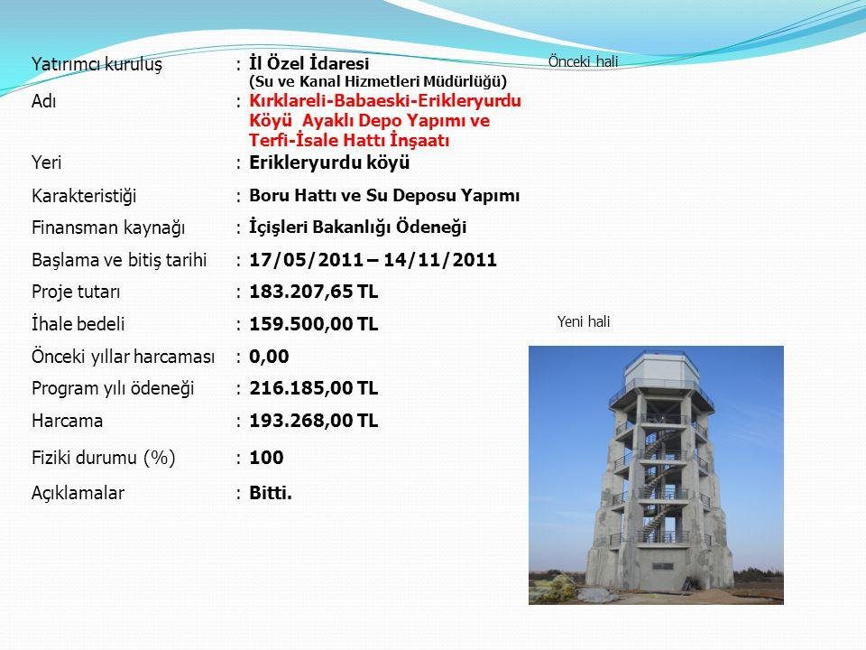 Başlama ve bitiş tarihi 17/05/2011 – 14/11/2011 Proje tutarı