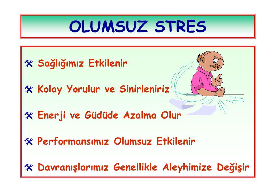 OLUMSUZ STRES Sağlığımız Etkilenir Kolay Yorulur ve Sinirleniriz