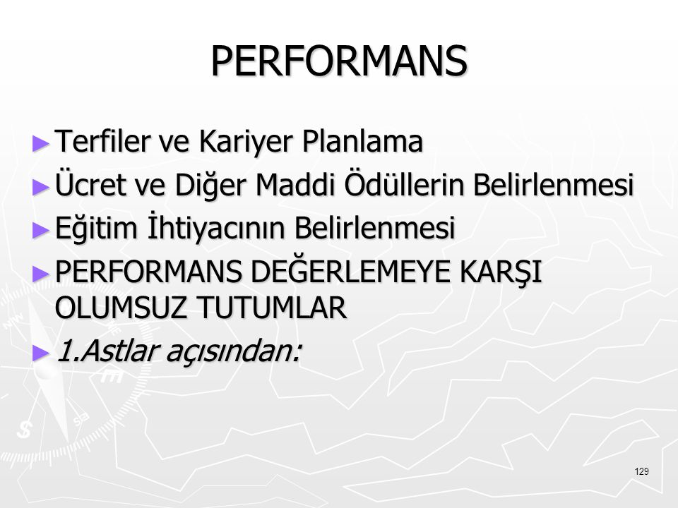 PERFORMANS Terfiler ve Kariyer Planlama