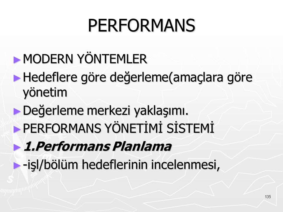 PERFORMANS MODERN YÖNTEMLER