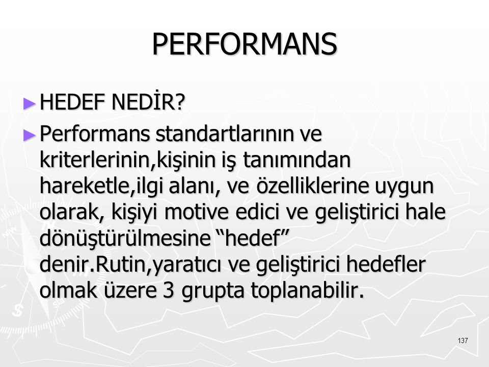 PERFORMANS HEDEF NEDİR