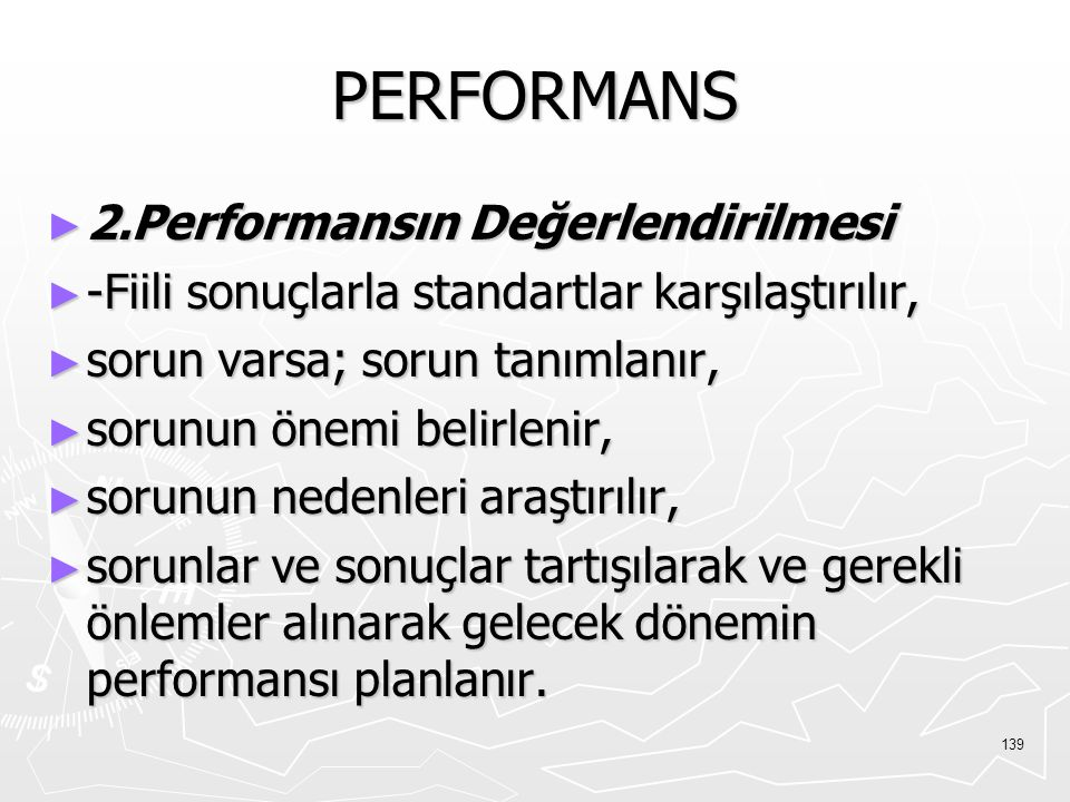 PERFORMANS 2.Performansın Değerlendirilmesi