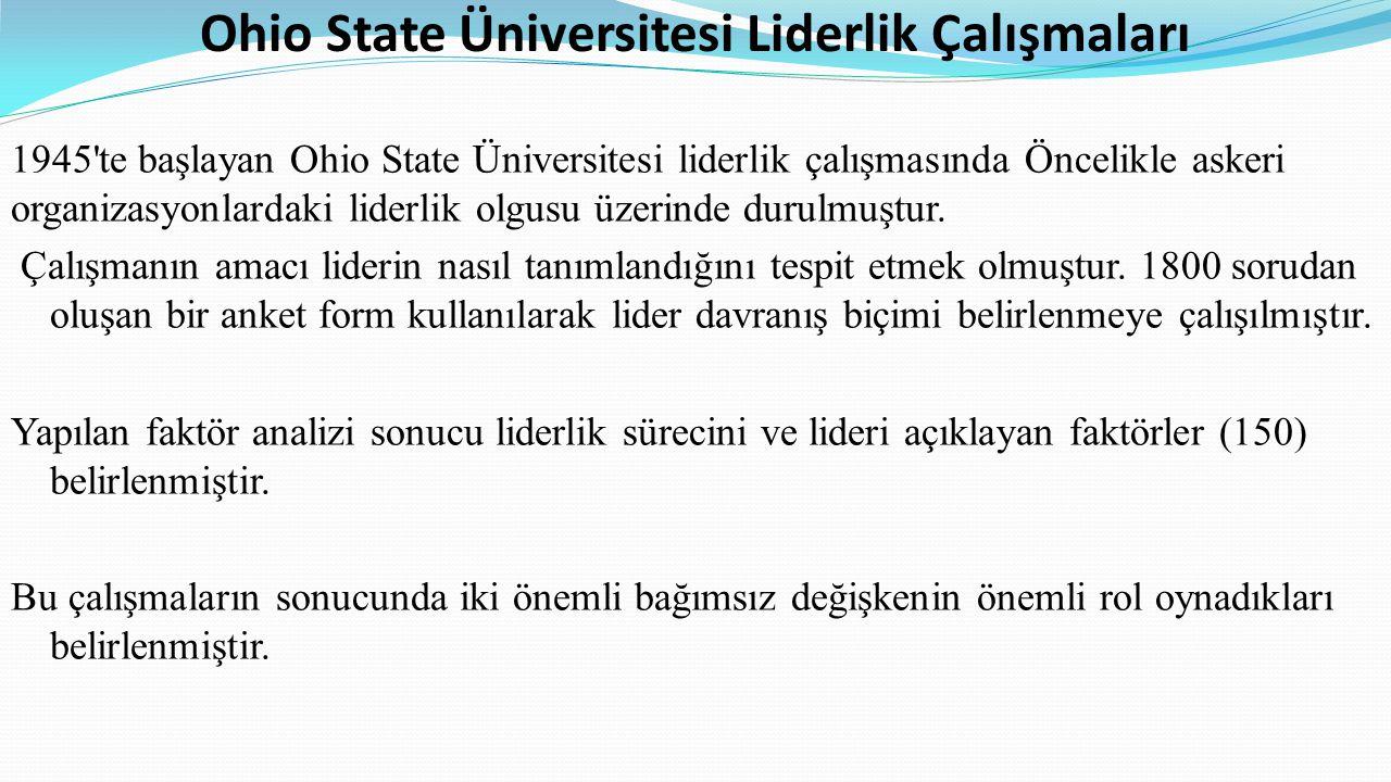 Ohio State Üniversitesi Liderlik Çalışmaları