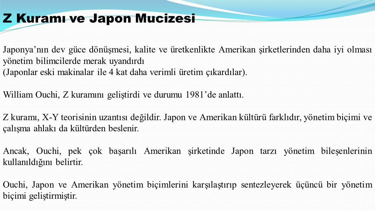 Z Kuramı ve Japon Mucizesi
