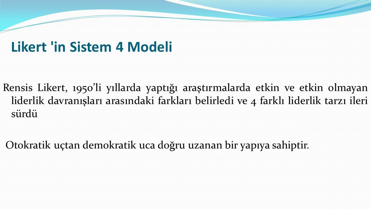 Likert in Sistem 4 Modeli