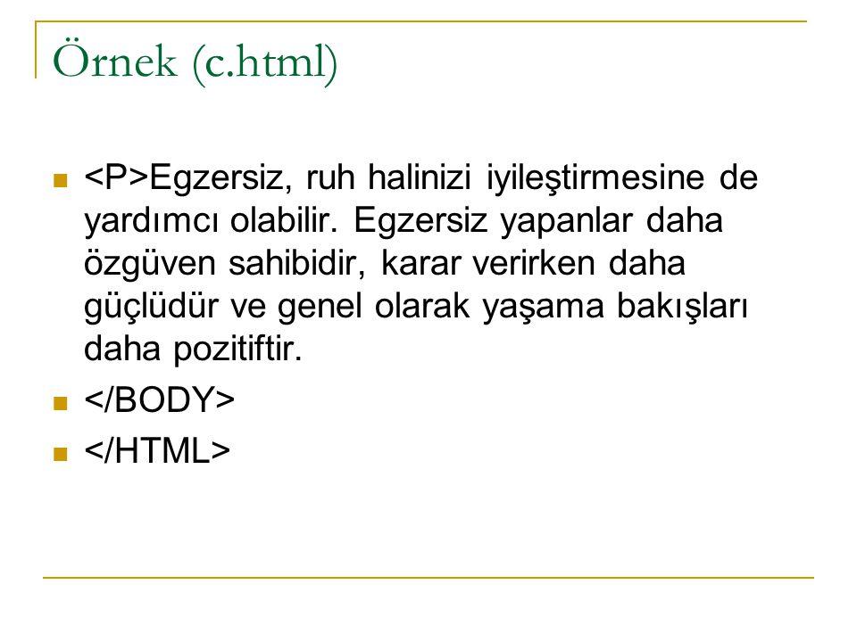 Örnek (c.html)