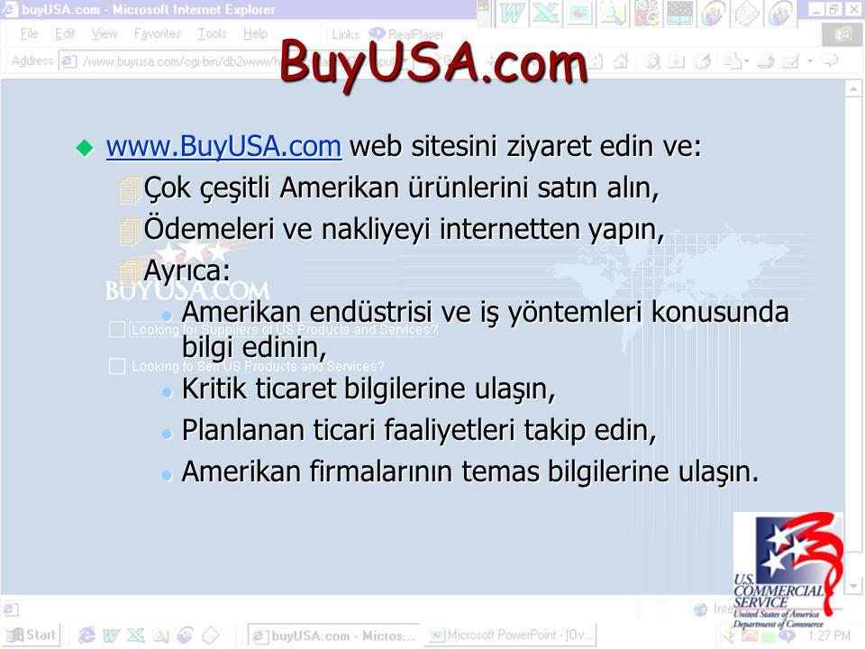 BuyUSA.com www.BuyUSA.com web sitesini ziyaret edin ve: