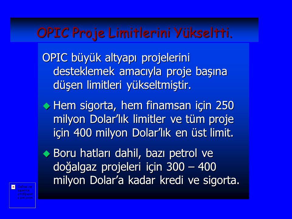 OPIC Proje Limitlerini Yükseltti.