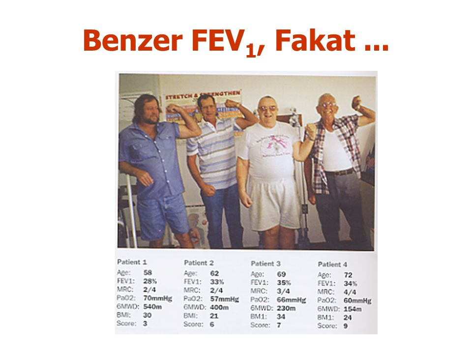 Benzer FEV1, Fakat ...