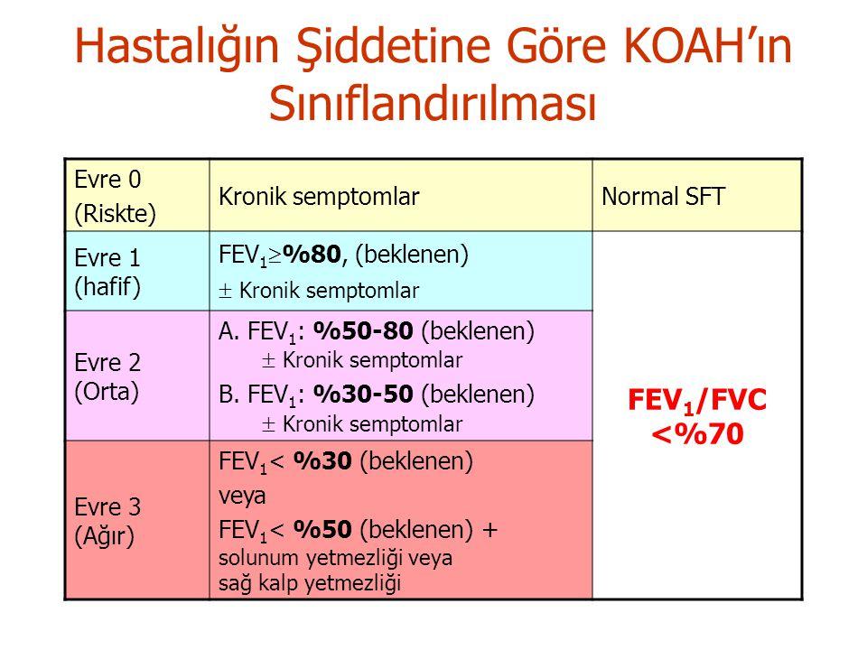 Hastalığın Şiddetine Göre KOAH'ın Sınıflandırılması
