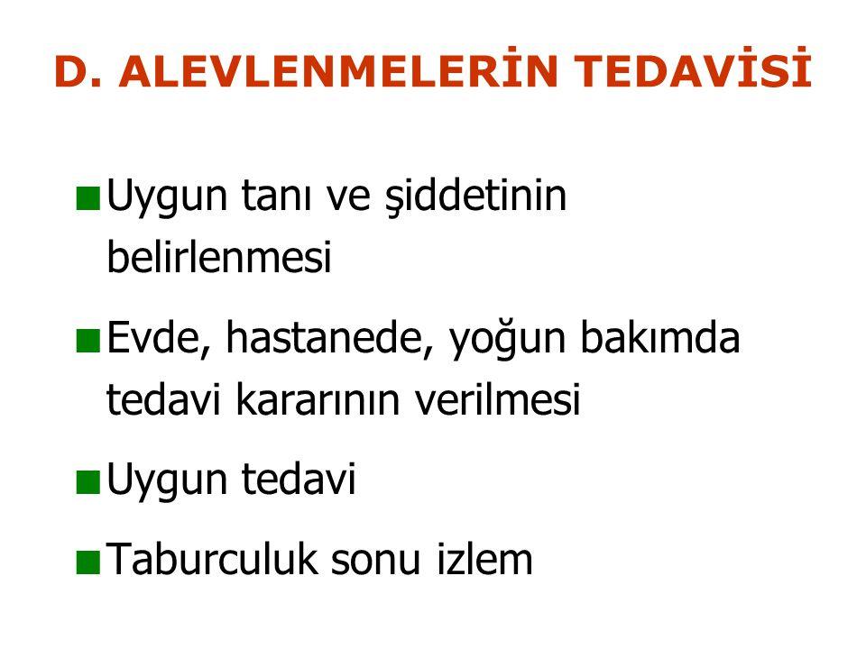 D. ALEVLENMELERİN TEDAVİSİ