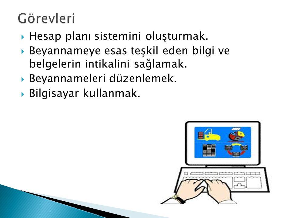 Görevleri Hesap planı sistemini oluşturmak.