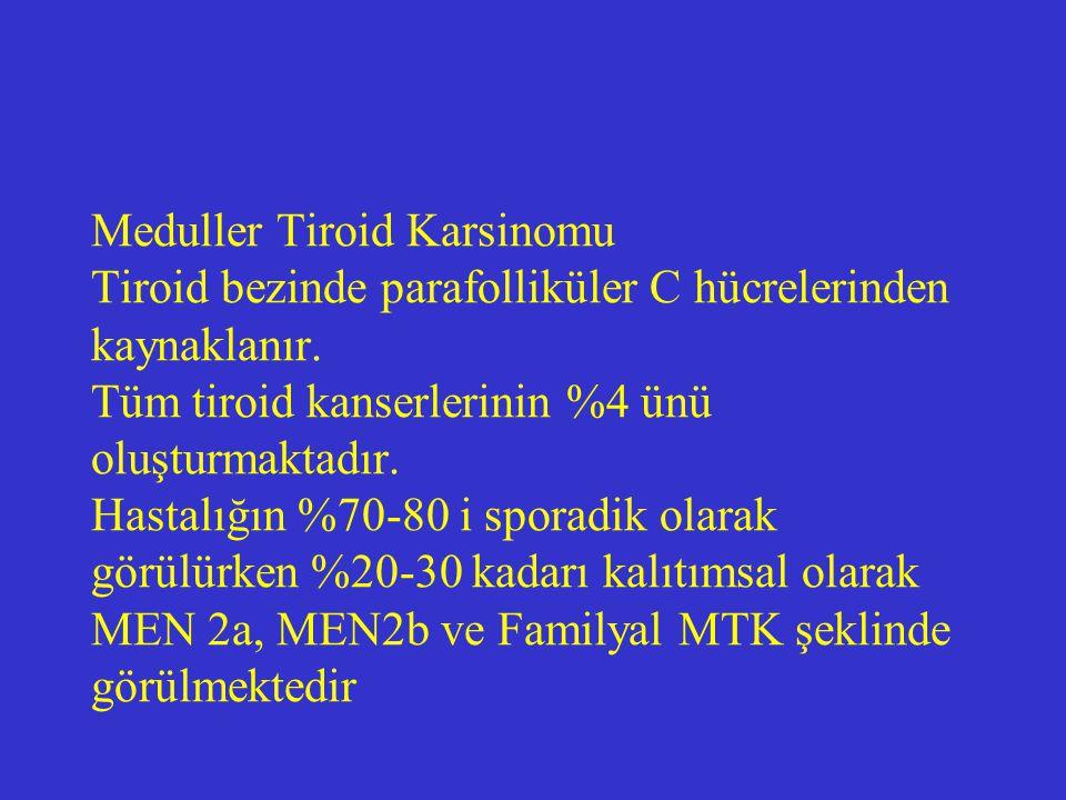 Meduller Tiroid Karsinomu Tiroid bezinde parafolliküler C hücrelerinden kaynaklanır.