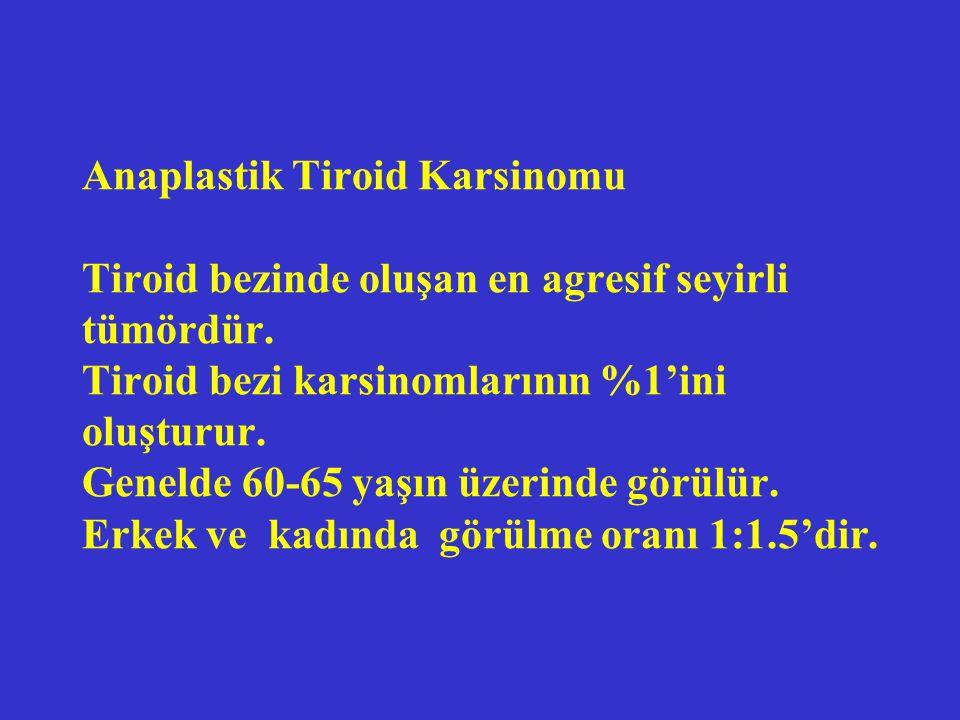 Anaplastik Tiroid Karsinomu Tiroid bezinde oluşan en agresif seyirli tümördür.