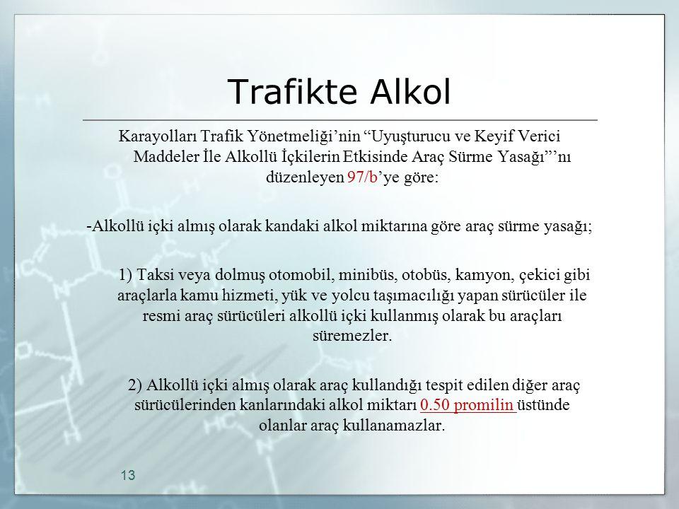 Trafikte Alkol