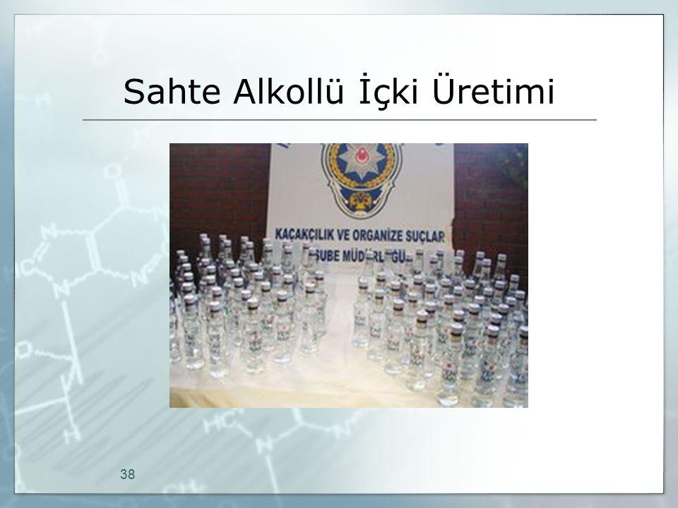 Sahte Alkollü İçki Üretimi