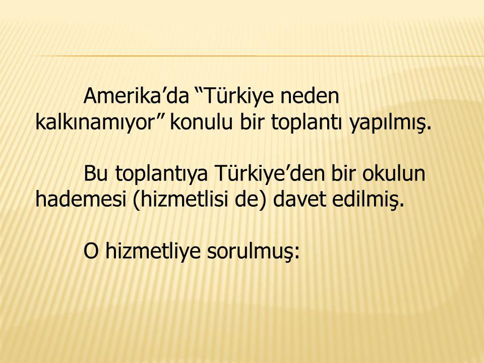 Amerika'da Türkiye neden kalkınamıyor konulu bir toplantı yapılmış