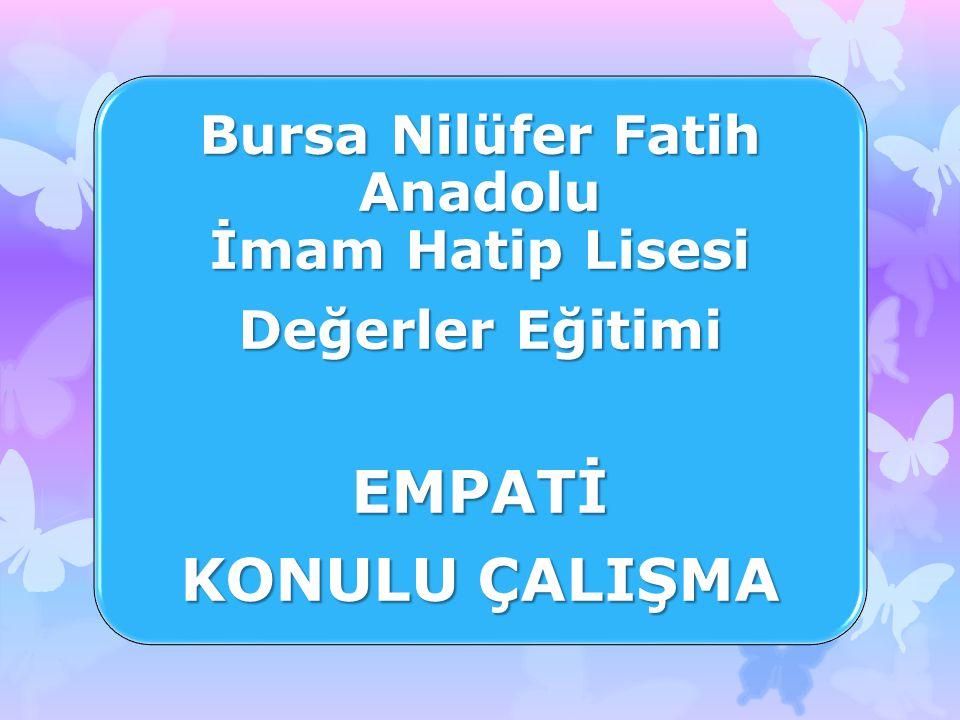 Bursa Nilüfer Fatih Anadolu İmam Hatip Lisesi