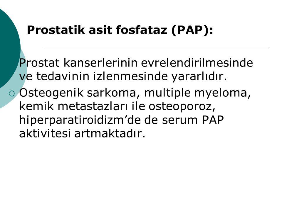 Prostatik asit fosfataz (PAP):