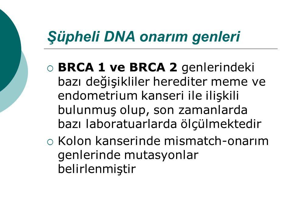 Şüpheli DNA onarım genleri