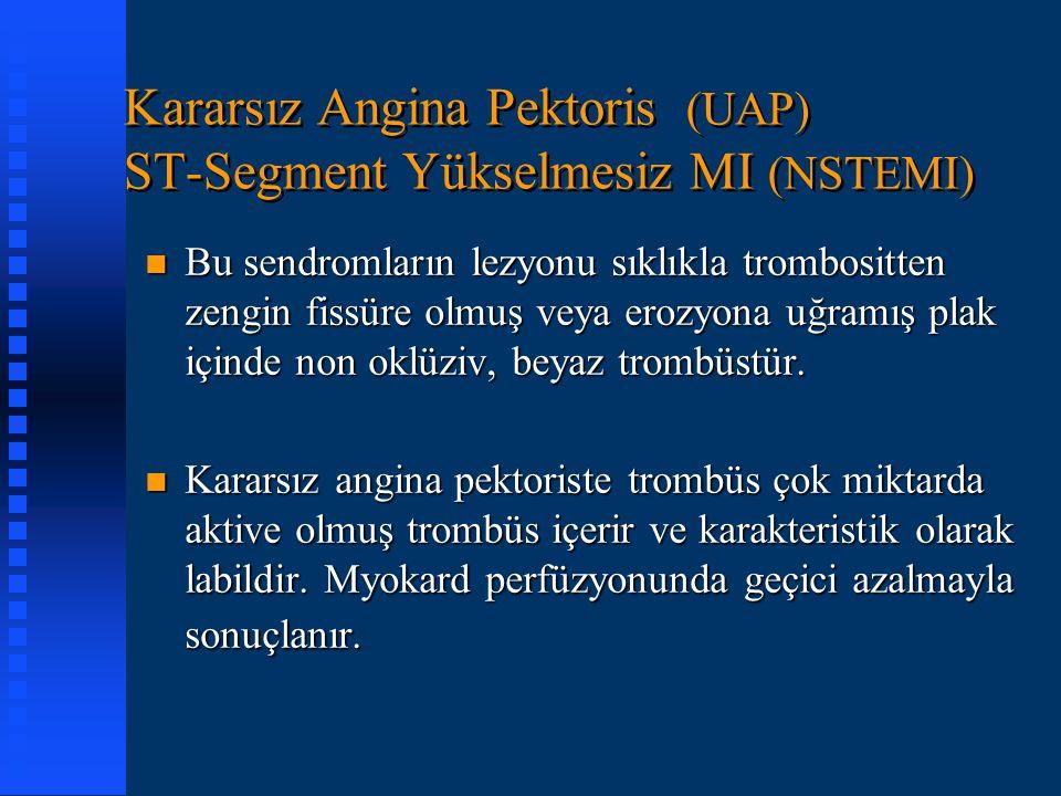 Kararsız Angina Pektoris (UAP) ST-Segment Yükselmesiz MI (NSTEMI)