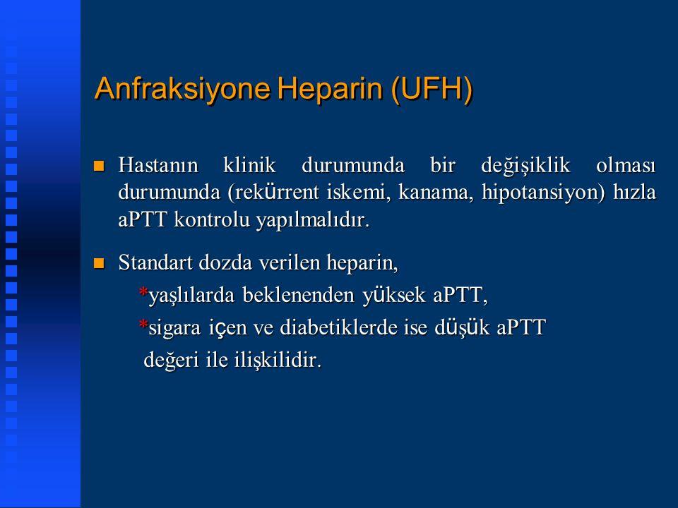 Anfraksiyone Heparin (UFH)