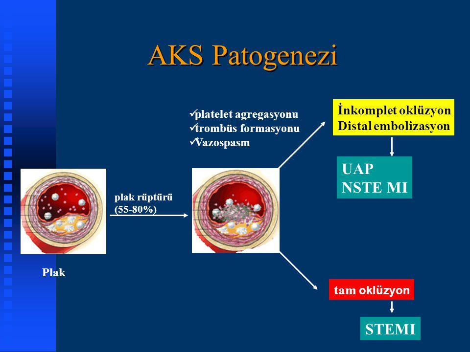 AKS Patogenezi UAP NSTE MI STEMI İnkomplet oklüzyon