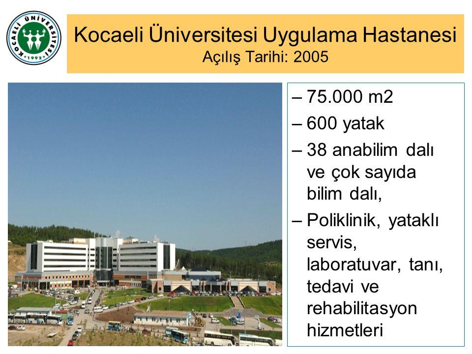 Kocaeli Üniversitesi Uygulama Hastanesi Açılış Tarihi: 2005