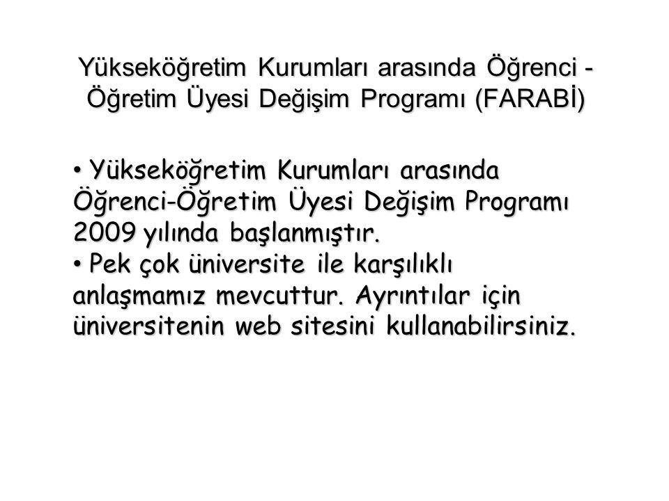 Yükseköğretim Kurumları arasında Öğrenci -Öğretim Üyesi Değişim Programı (FARABİ)