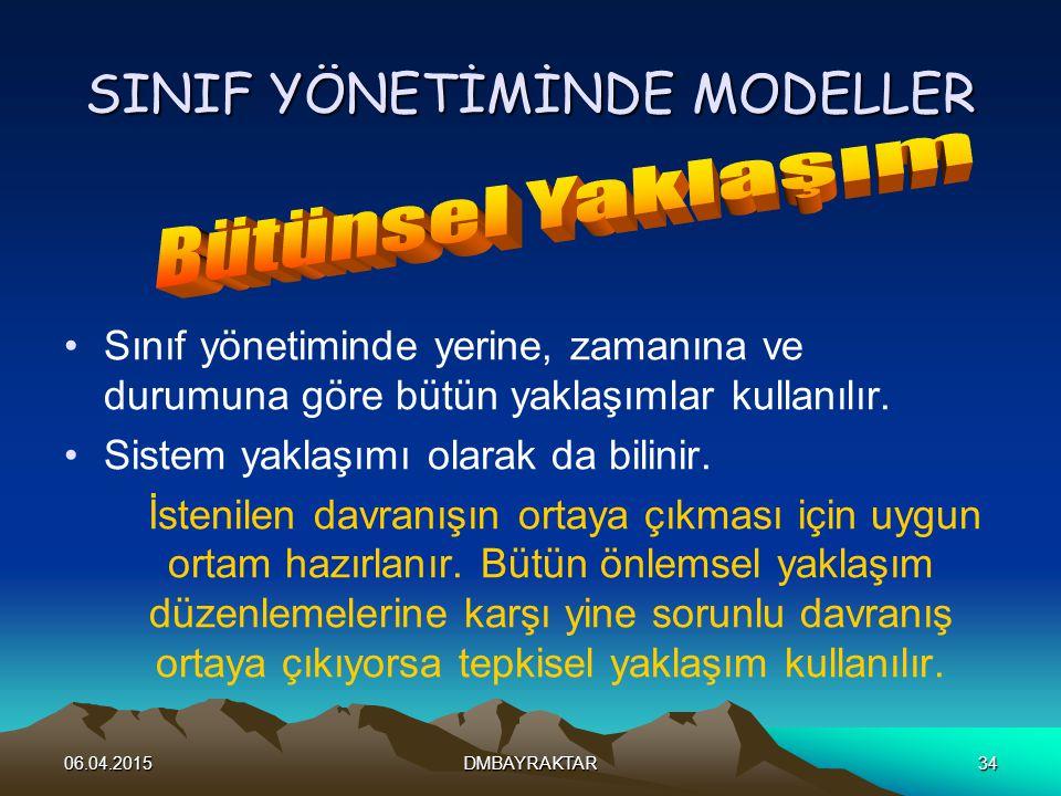 SINIF YÖNETİMİNDE MODELLER