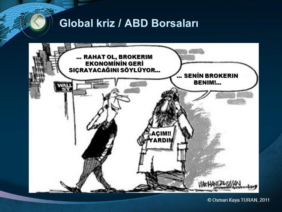 Global kriz / ABD Borsaları