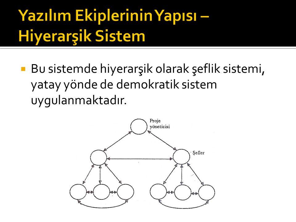Yazılım Ekiplerinin Yapısı – Hiyerarşik Sistem