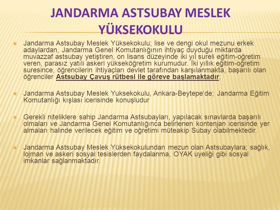 JANDARMA ASTSUBAY MESLEK YÜKSEKOKULU
