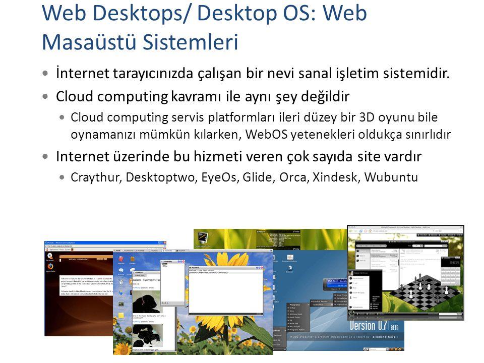 Web Desktops/ Desktop OS: Web Masaüstü Sistemleri