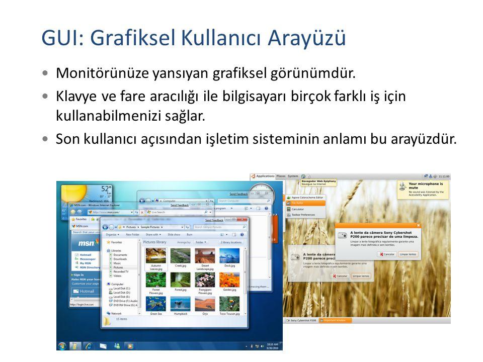 GUI: Grafiksel Kullanıcı Arayüzü