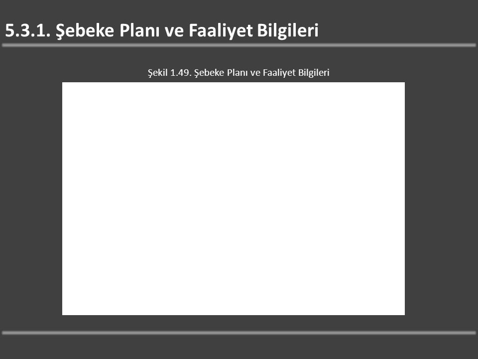 5.3.1. Şebeke Planı ve Faaliyet Bilgileri