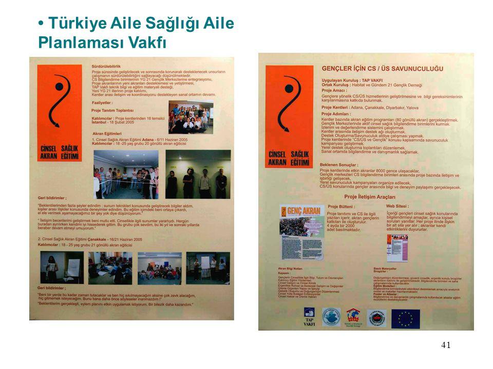 • Türkiye Aile Sağlığı Aile Planlaması Vakfı