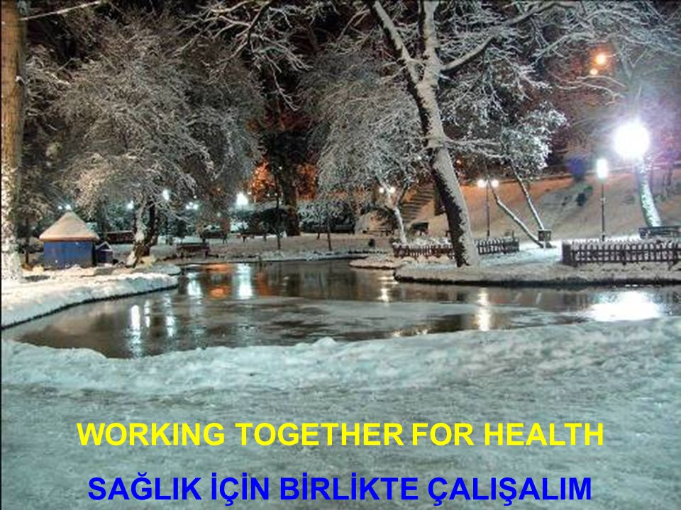 WORKING TOGETHER FOR HEALTH SAĞLIK İÇİN BİRLİKTE ÇALIŞALIM