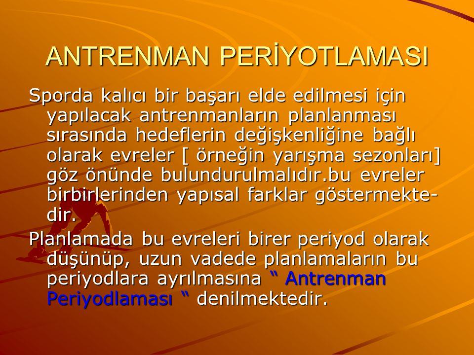 ANTRENMAN PERİYOTLAMASI