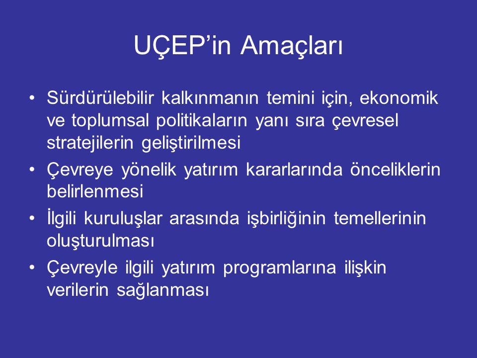 UÇEP'in Amaçları Sürdürülebilir kalkınmanın temini için, ekonomik ve toplumsal politikaların yanı sıra çevresel stratejilerin geliştirilmesi.