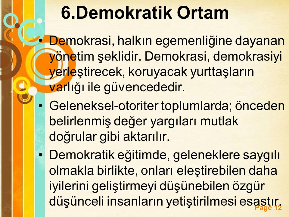 6.Demokratik Ortam