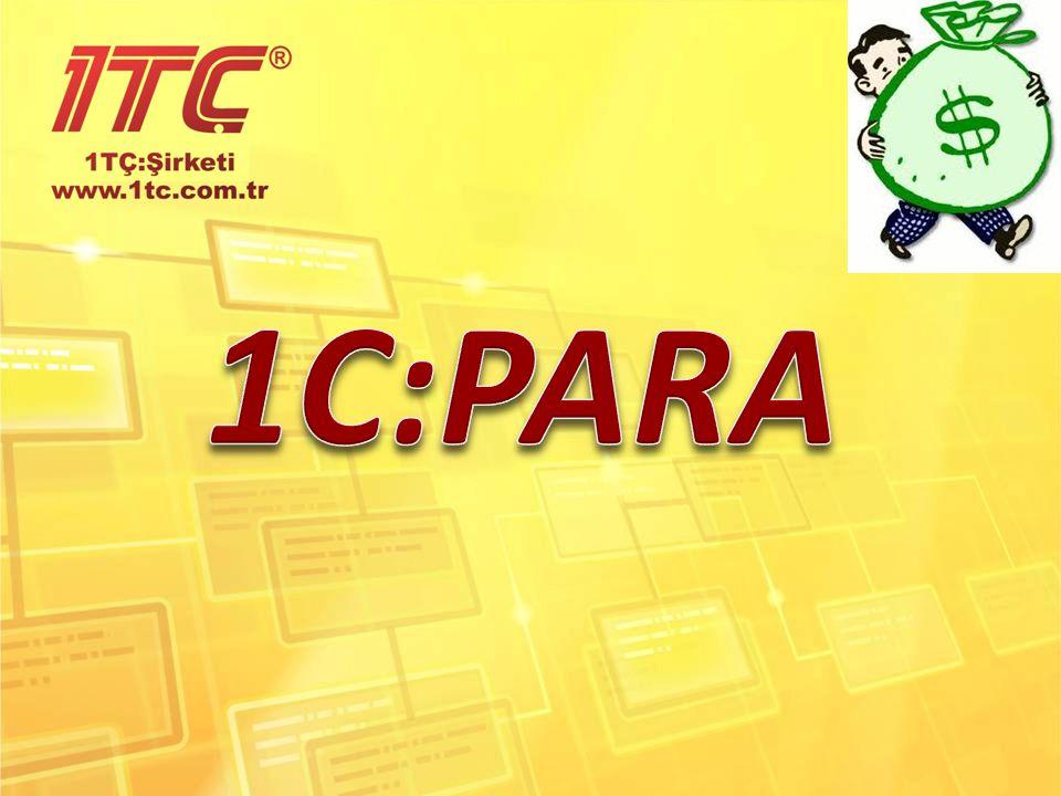 1C:PARA Bu program genel olarak gelir ve giderlerin analizini yapmak için tasarlanmıştır.