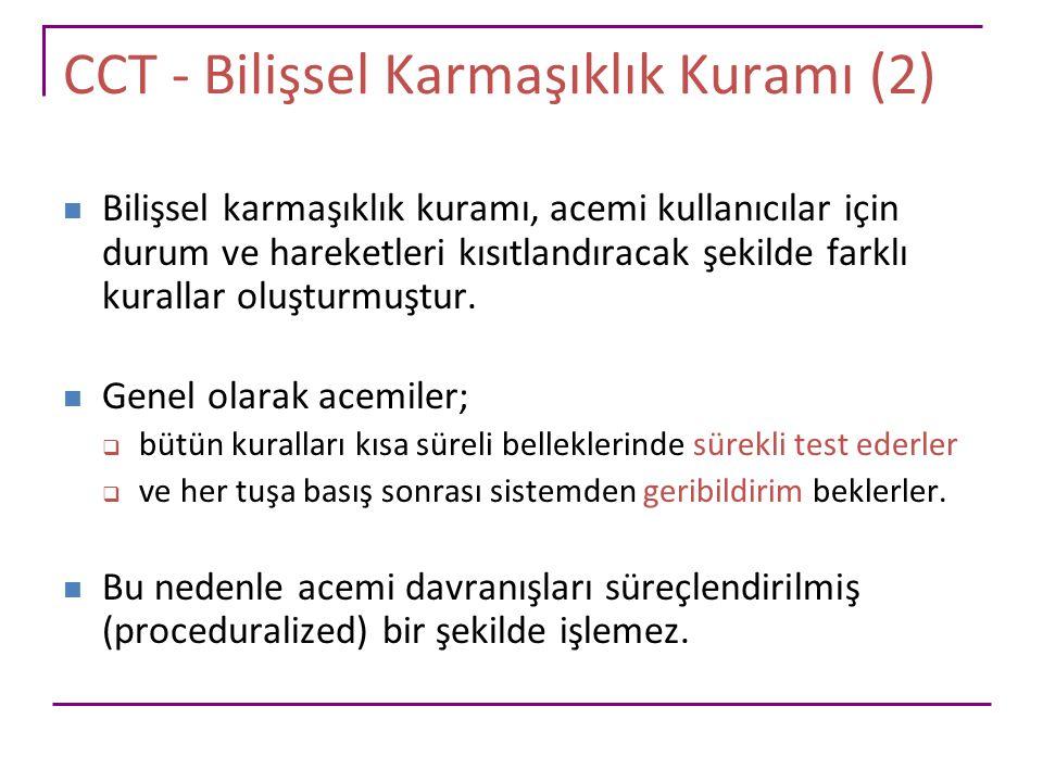 CCT - Bilişsel Karmaşıklık Kuramı (2)