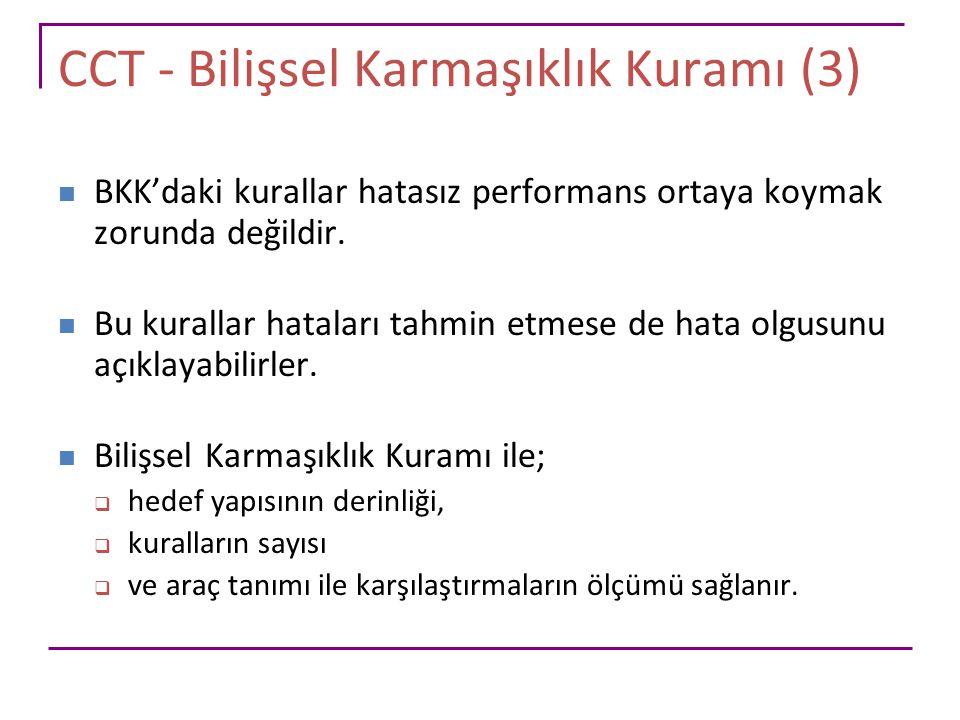 CCT - Bilişsel Karmaşıklık Kuramı (3)