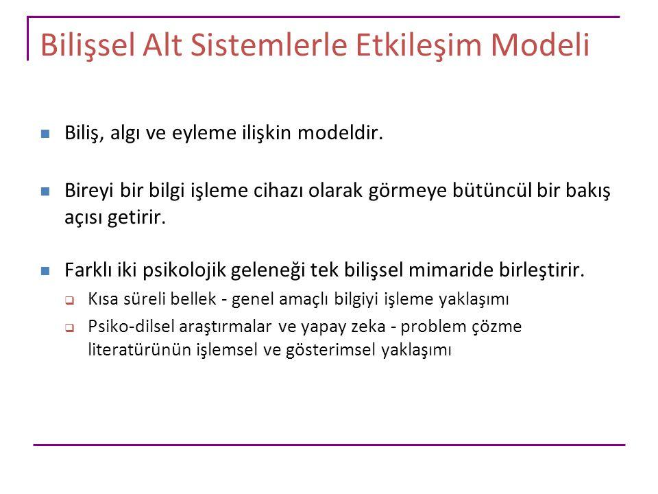 Bilişsel Alt Sistemlerle Etkileşim Modeli